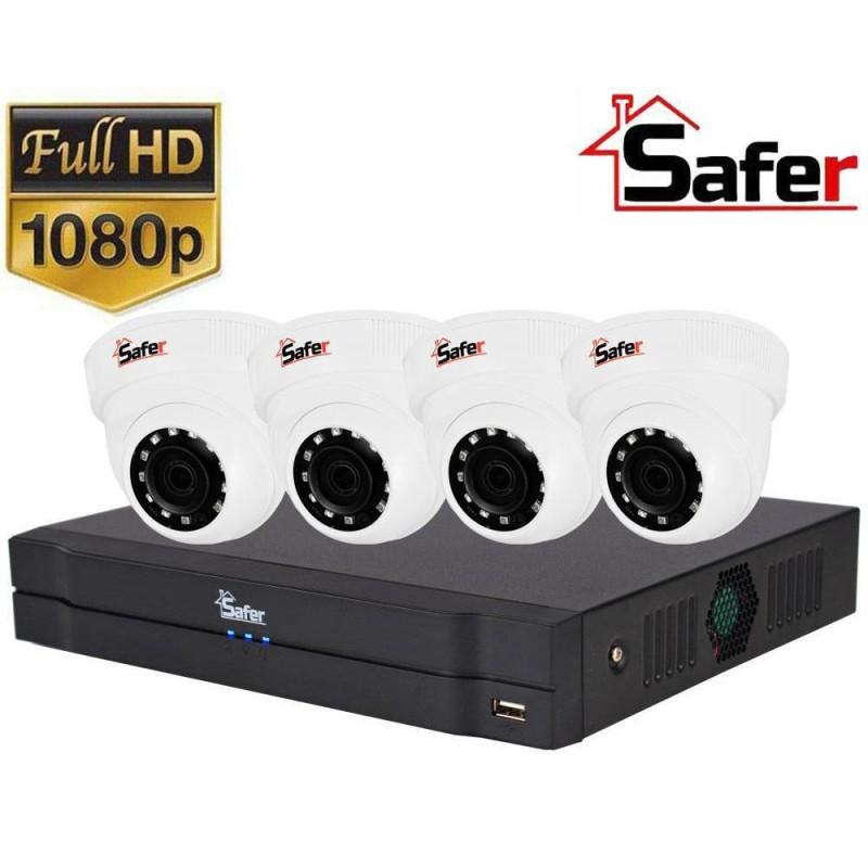 Sistem de supraveghere 4 camere interior, FULL HD, IR 20, lentila 2.8mm
