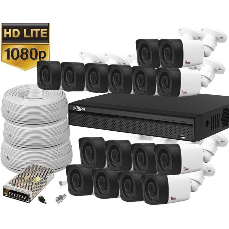 Kit de supraveghere video 16 camere exterior rezolutie 1080P Lite