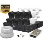 Kit supraveghere video 8 camere de exterior 1080P Lite