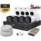Kit supraveghere video 8 camere HD mixt