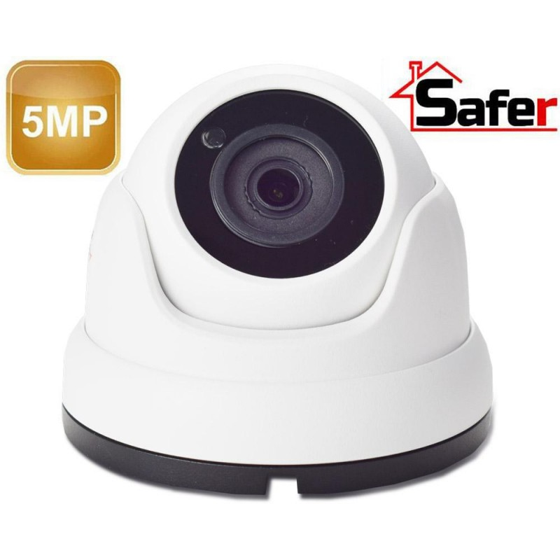 Camera supraveghere dome 5 MP, 3,6 mm, IR 20 metri, Safer
