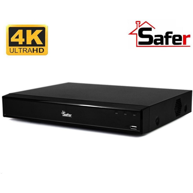 DVR 16 canale SAFER, rezolutie 4K, Pentabrid, 1 x HDD