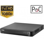 DVR 16 canale, FULL HD, tehnologie PoC, Hikvision