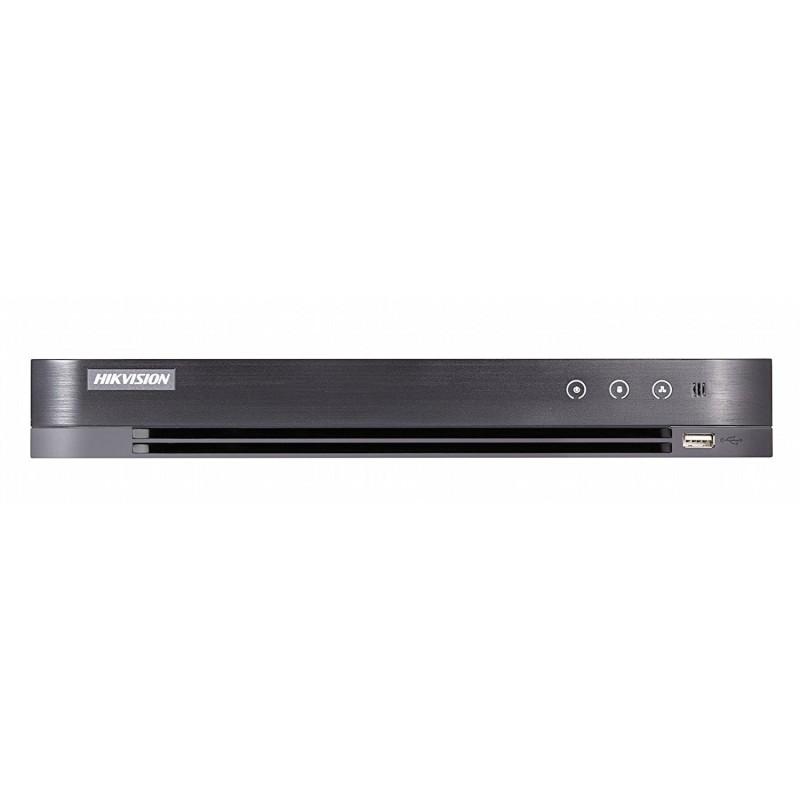 Dvr 4 canale, 5 Megapixeli, Hikvision cu 4 intrari audio, H265+