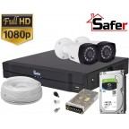 Kit complet 2 camere supraveghere video FULL HD exterior